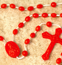 San Francis Imports Plastic Red Rosary (10 per package)