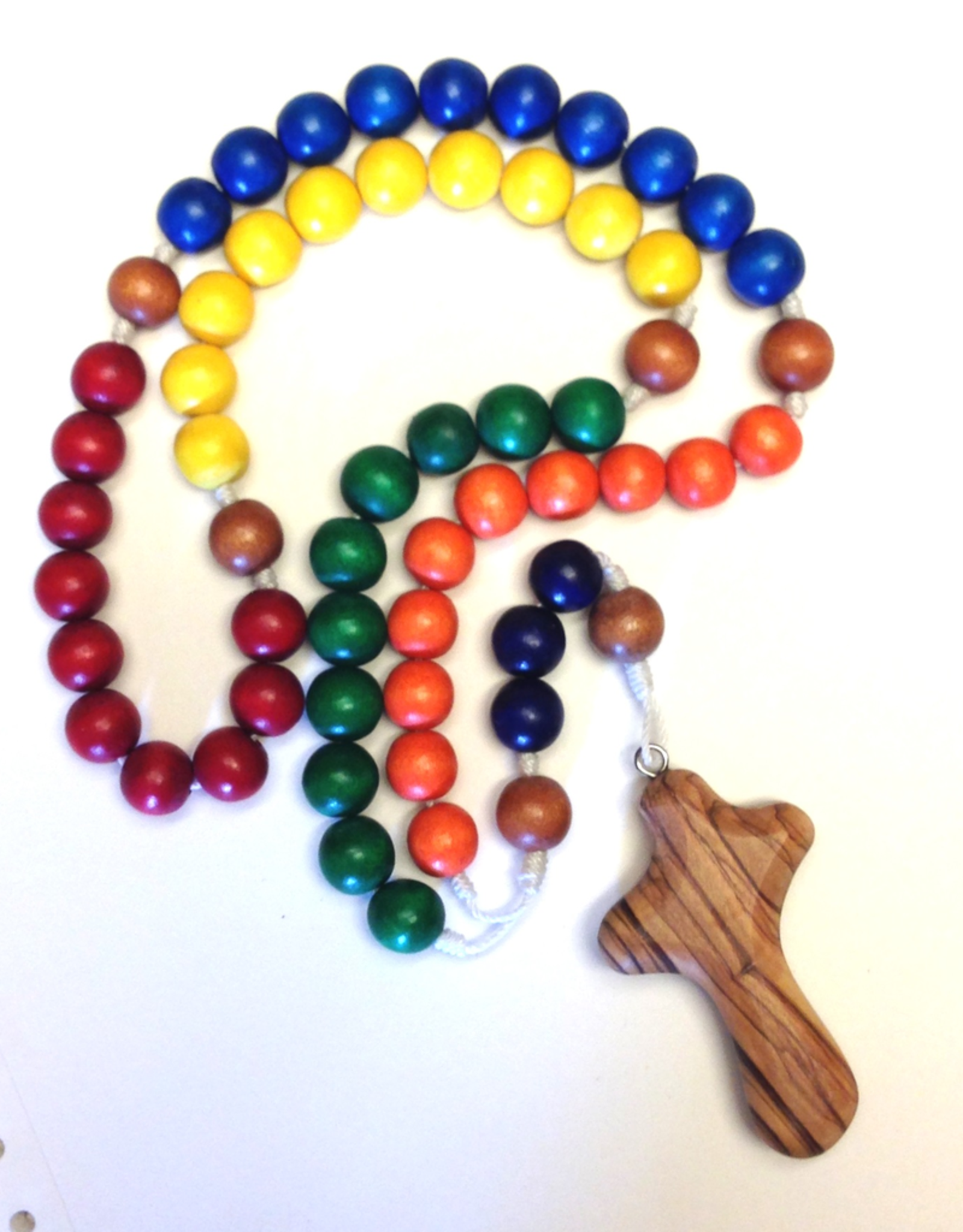 BC Inspirations BC Inspirations:  Handcrafted Children's Rosary in Classic Colors w/ Bethlehem Olive Wood Hand Carved Cross