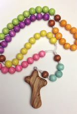 BC Inspirations BC Inspirations:  Handcrafted Children's Rosary in Pastel Colors w/ Bethlehem Hand Carved Cross