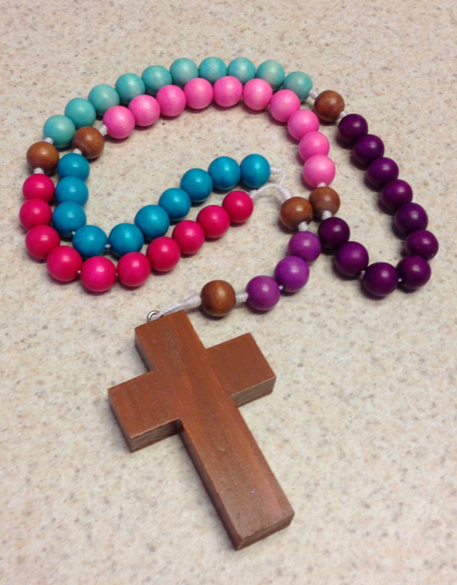 BC Inspirations BC Inspirations:  Handcrafted Children's Rosary in Pinks/Purples w/ Simple Cross