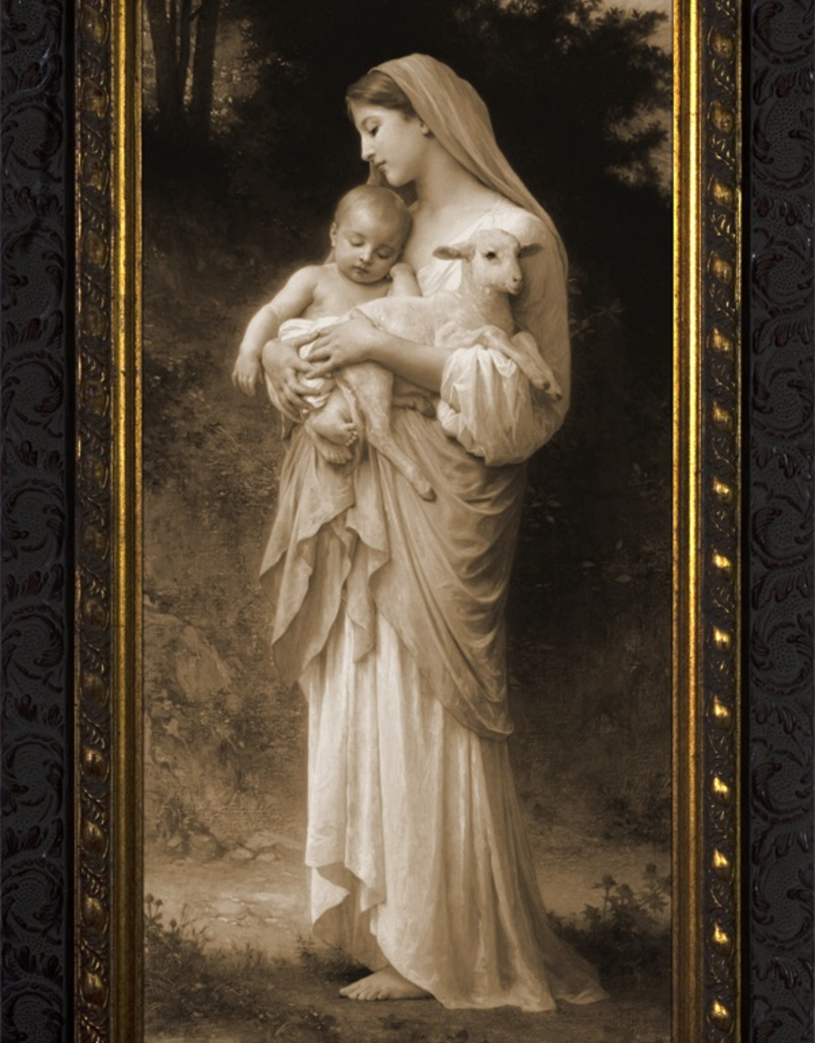 Nelson/Catholic to the Max L'Innocence in Gold Solid Wood Frame 8 x 16‰Û