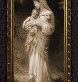 """Nelson/Catholic to the Max L'Innocence in Gold Solid Wood Frame 8 x 16"""""""
