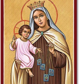 "Monastery Icons 4"" x 6"" Our Lady of Mt. Carmel Icon"