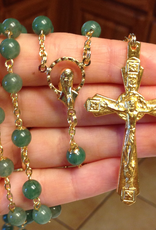 BC Inspirations BC Inspirations:  Handcrafted Green Adventurine Rosary w/ Crown of Thorns Crucifix