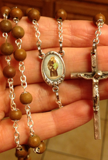 BC Inspirations BC Inspirations:  Handcrafted Tigerskin Jasper Rosary w/ Full Color St. Anthony Centerpiece
