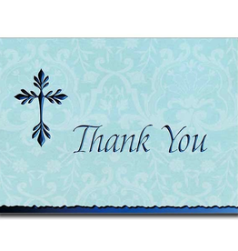 Printery House Tree of Life Cross Deluxe Thank You Notes (blue)(10 per pkg)
