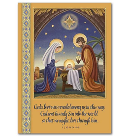 Printery House God's Love was Revealed Christmas Cards (18 cards/19 envelpes per pkg)