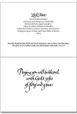 Printery House Abbey Heartfelt Prayer Christmas Cards (18 cards/19 envelopes per pkg)