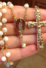 BC Inspirations BC Inspirations:  Handcrafted Freshwater Pearl Shell Rosary w/ Holy Family Centerpiece