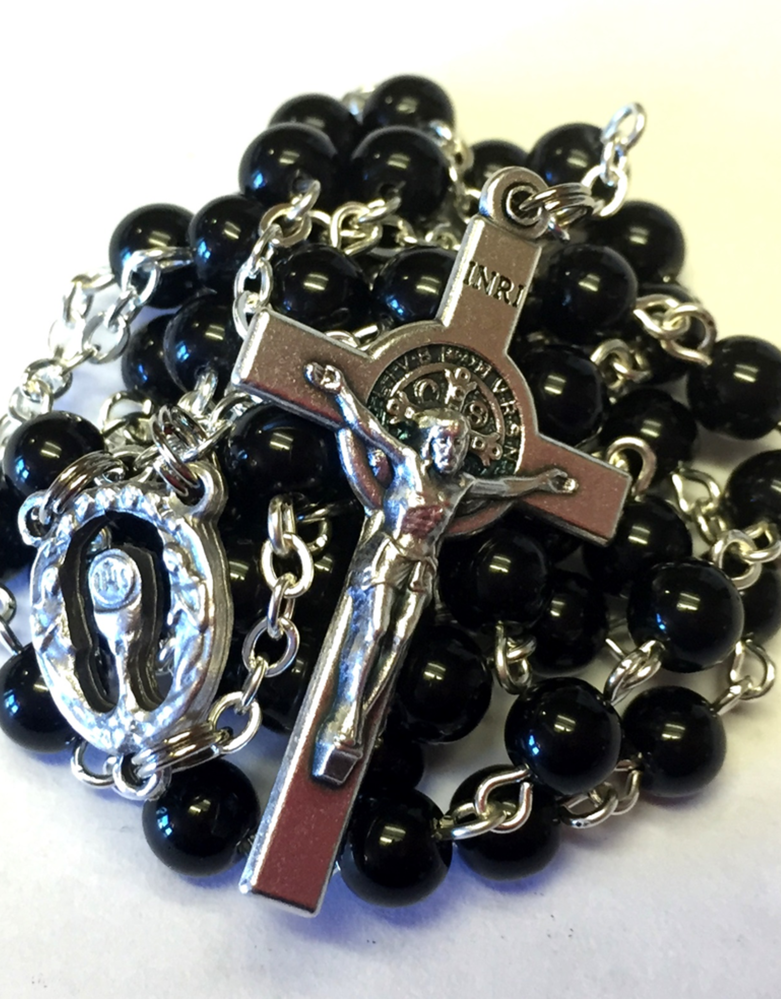 BC Inspirations BC Inspirations:  Handcrafted Black Obsidian First Communion Rosary