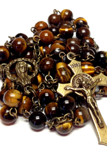 BC Inspirations BC Inspirations: Handcrafted Vintage Tiger's Eye Rosary in Bronze