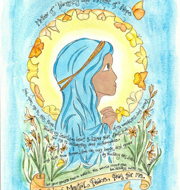 Dovetail Ink Dovetail Ink: Our Lady of Mental Peace Prayer Art (8x10 print)