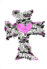 Dovetail Ink Dovetail Ink:  Proverbs 31 Cross Art (8x10 print, matted only)