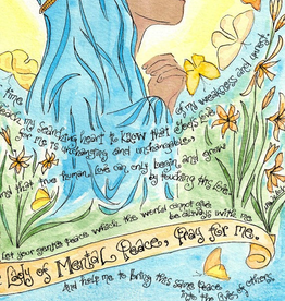 Dovetail Ink Dovetail Ink: Our Lady of Mental Peace Prayer Art (8x10 print, matted only)