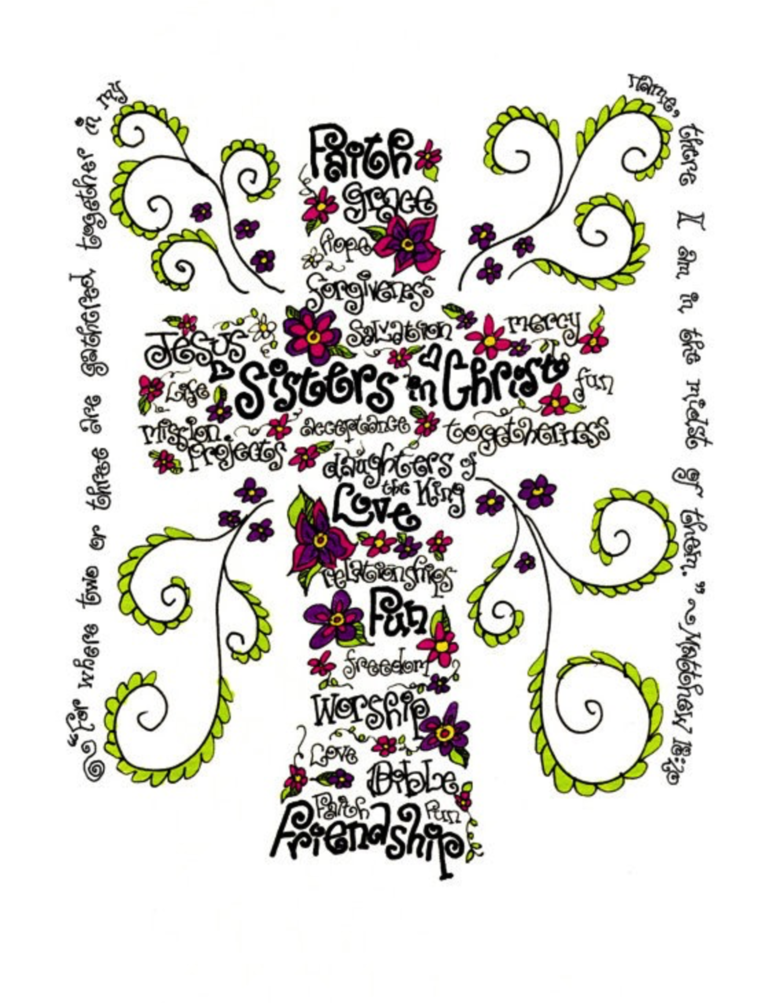 Dovetail Ink Dovetail Ink:  Sisters In Christ All Occasion Gift Cards (8pk, 8 envelopes)