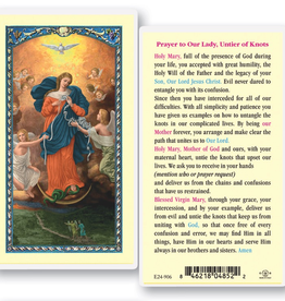 WJ Hirten Our Lady Untier of Knots Holy Cards (25/pk)