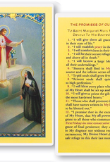 WJ Hirten The Promises of Our Lord (St. Margaret Mary) Holy Cards (25/pk)