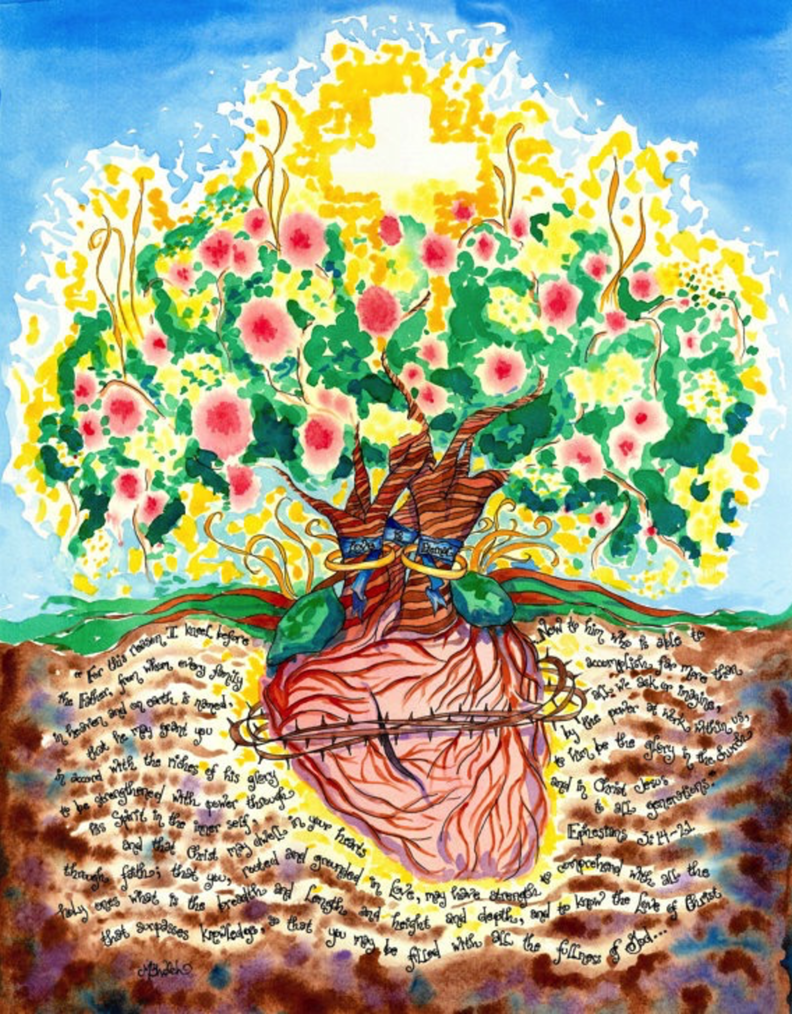 Dovetail Ink Dovetail Ink:  Anniversary Gifet w/ Sacred Heart (11x14 print)