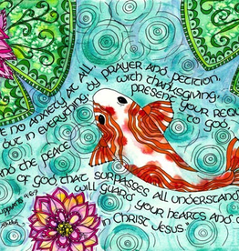 Dovetail Ink Dovetail Ink: Philippians Scripture Art with Koi Fish and Lily Pads (11x14 print)