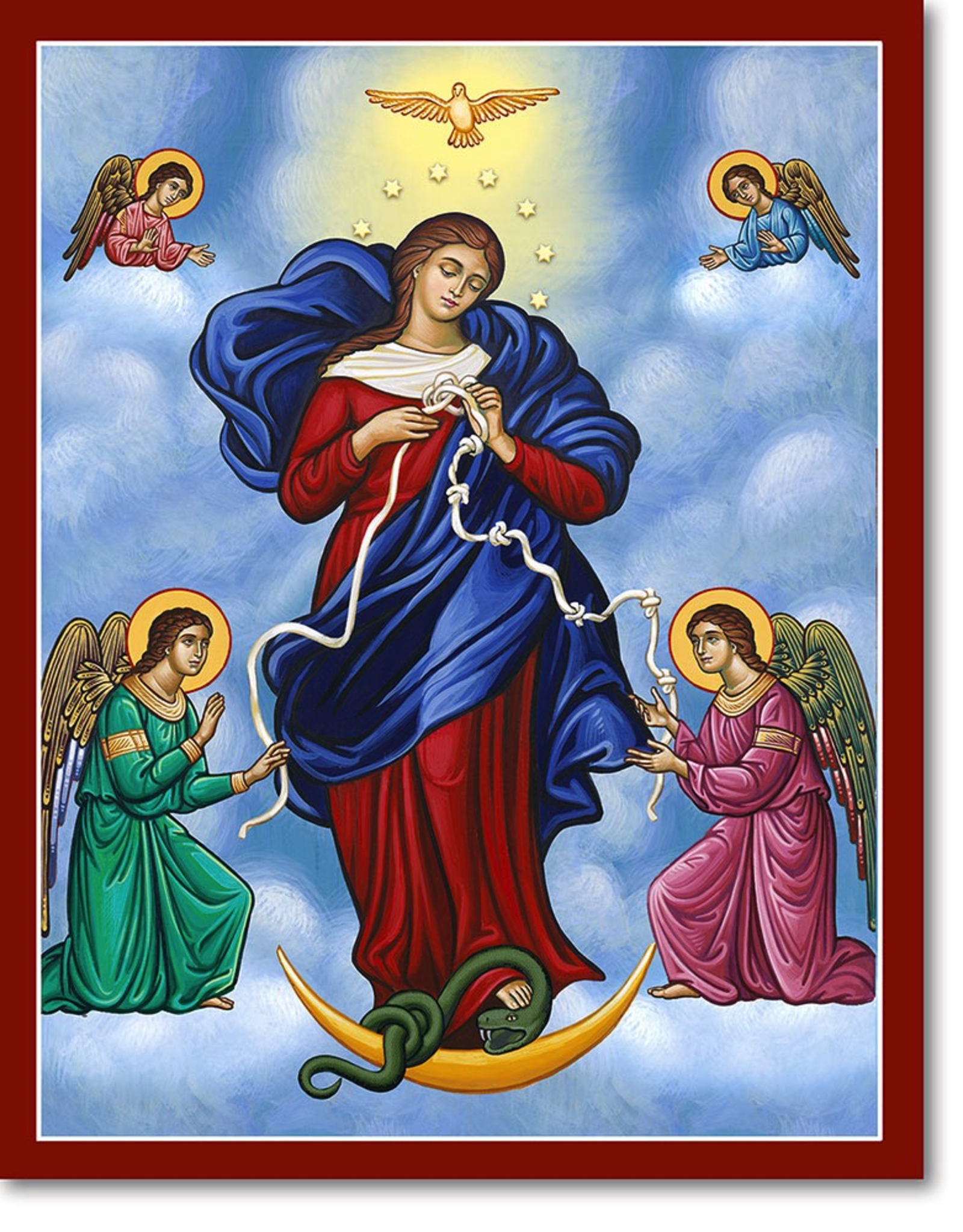 """Monastery Icons 4"""" x 6"""" Mary Untier of Knots Icon"""