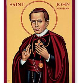 """Monastery Icons 3"""" x 4"""" St. John Neumann Icon"""