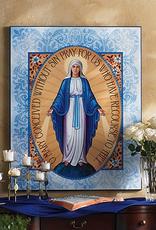 "Monastery Icons 4"" x 6"" Miraculous Medal Icon"