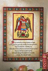 "Monastery Icons 8"" x 10"" St. Michael Prayer Icon"