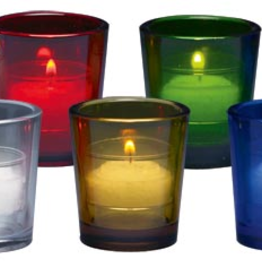 Will and Baumer 10hr vigil lights glass (crystal/clear)(10 pk)