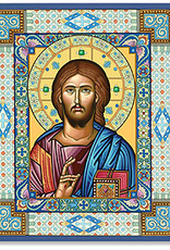 "Monastery Icons 4"" x 6"" Ornamental Christ Icon"