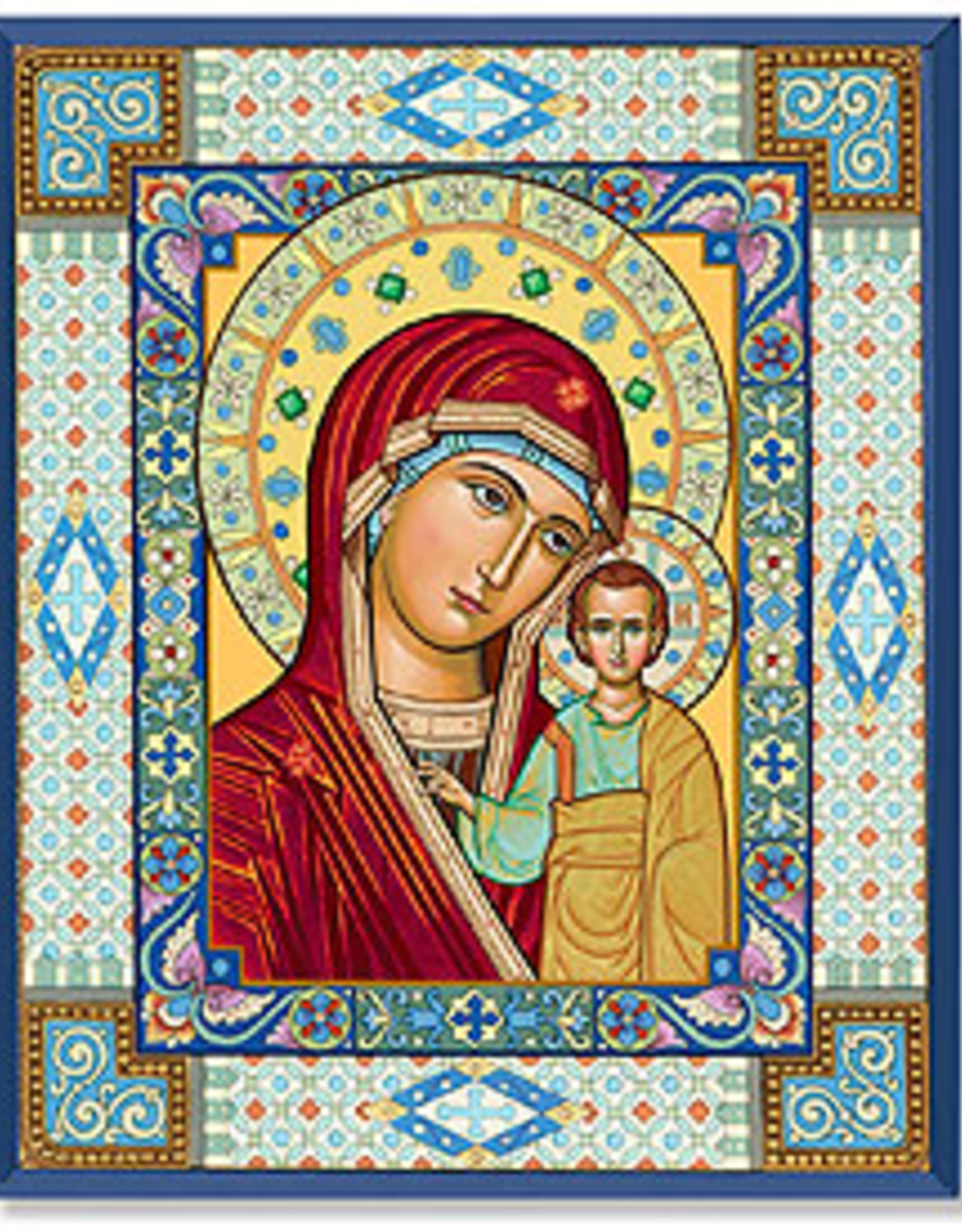 "Monastery Icons 4"" x 6"" Ornamental Mary Icon"