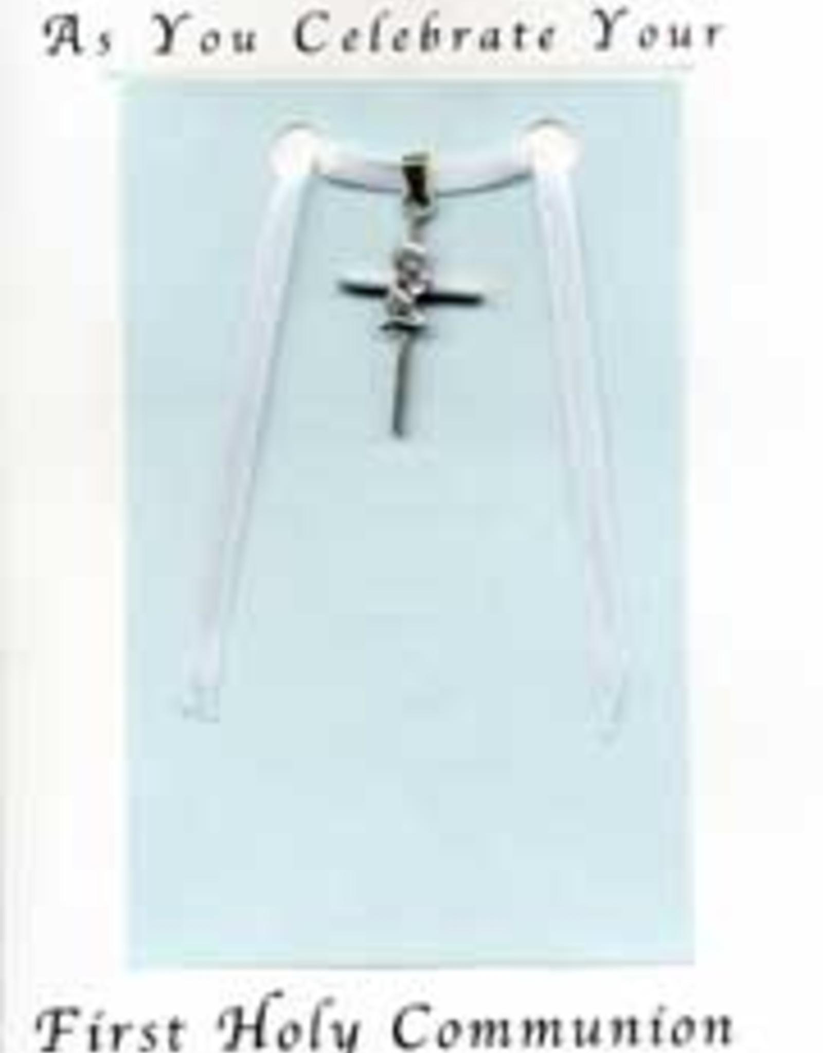 Illumigifts First Communion Praying Boy Cross Baptism Gift Card
