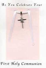 Illumigifts First Communion Praying Girl Cross Baptism Gift Card