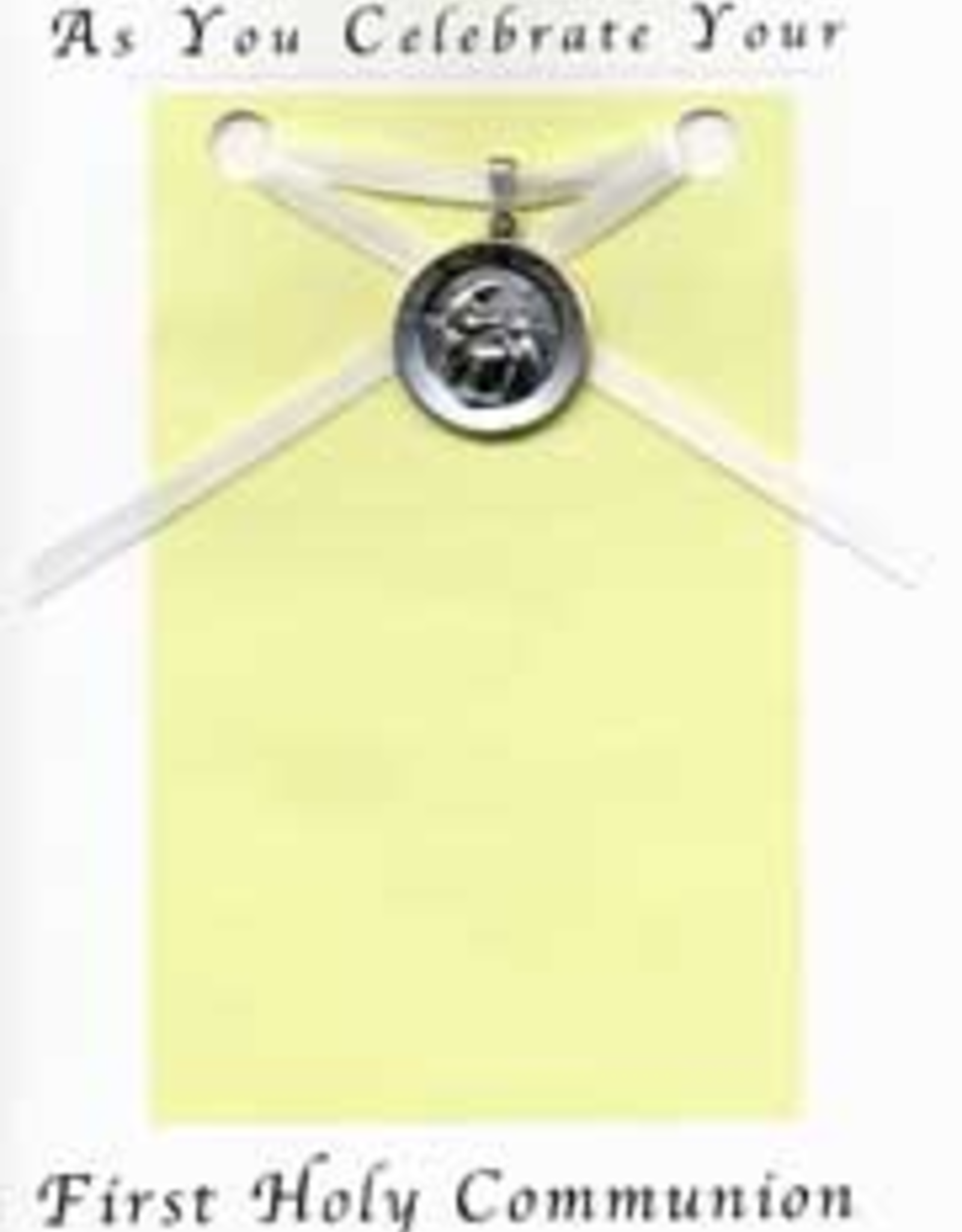 Illumigifts First Communion Medal Gift Card necklace