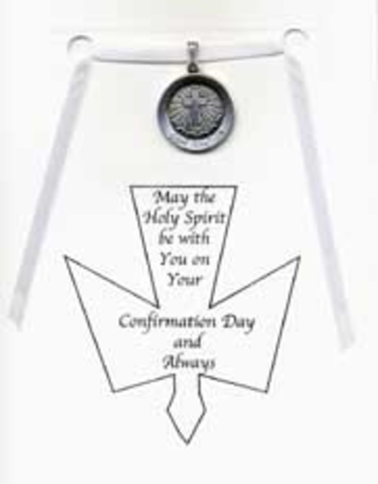 """Illumigifts Confirmation Medal Gift Card Necklace (24"""" Stainless Steel Chain Included)"""