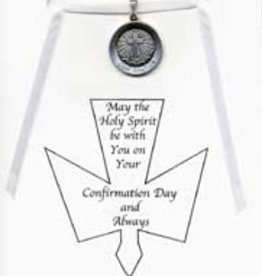 "Illumigifts Confirmation Medal Gift Card Necklace (24"" Stainless Steel Chain Included)"