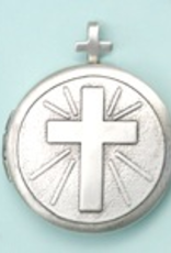 "Illumigifts Cross Locket Gift Card Necklace (18"" Stainless Steel Chain Included)"