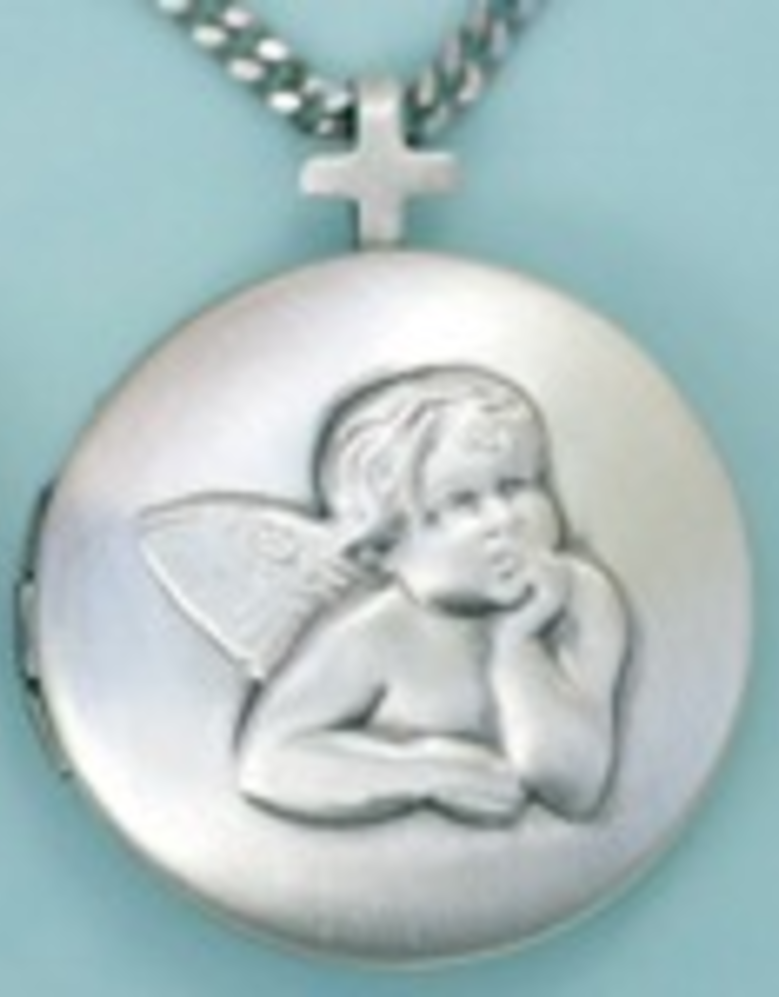 "Illumigifts Guardian Angel Locket Gift Card Necklace (18"" Stainless Steel Chain Included)"