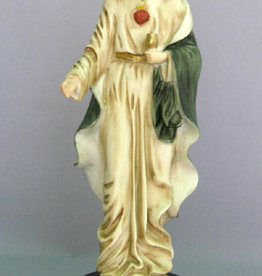 """Goldscheider 9"""""""" Eucharistic Lord by Furiesi in hand painted alabaster. Made in Italy."""