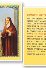 WJ Hirten St. Clare Holy Cards (25/pk)