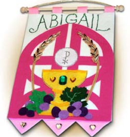 Illuminated Ink First Communion Banner Kit-Gates of Heaven-Pink