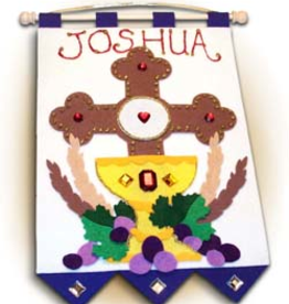 Illuminated Ink First Communion Banner Kit-Cross of Redemption-Blue