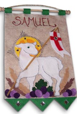 Illuminated Ink First Communion Banner Kit-Lamb of God- Green