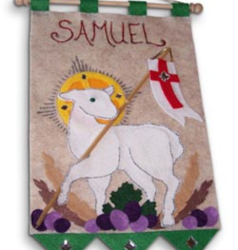 Illuminated Ink First Communion Banner Kit-Lamb of God- Green
