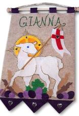 Illuminated Ink First Communion Banner Kit-Lamb of God- Purple