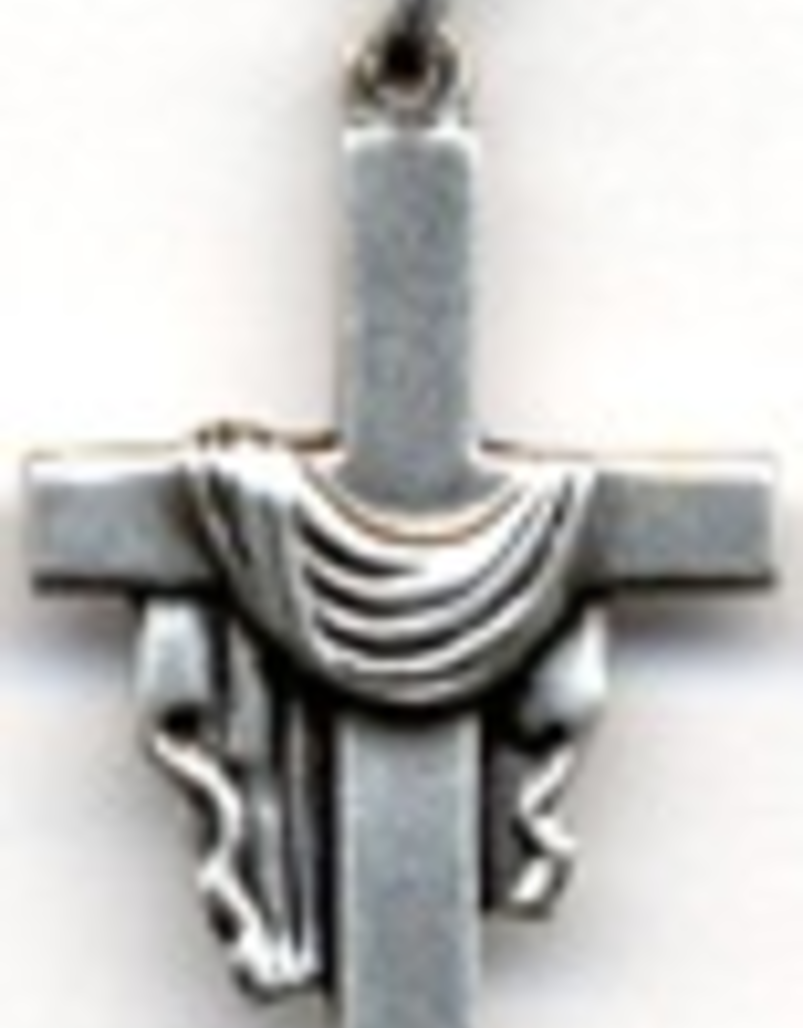 "Illumigifts Easter Cross w/ Cloth Gift Card Necklace (24"" Stainless Steel Chain Included)"