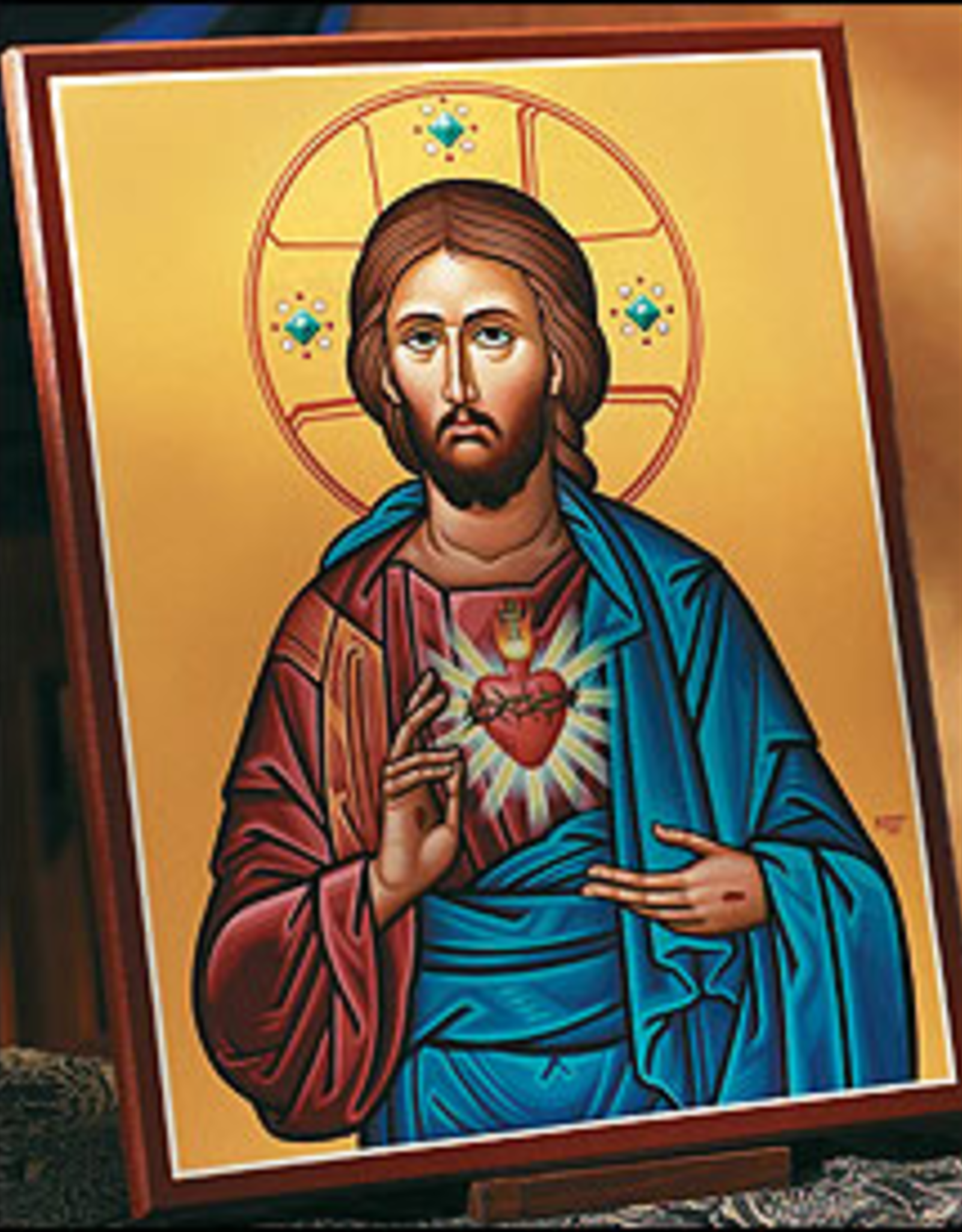 "Monastery Icons 4"" x 6"" Sacred Heart Icon"