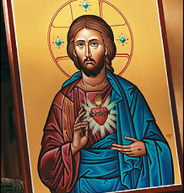 "Monastery Icons 4"" x 6"" Sacred Heart Icon"