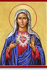 "Monastery Icons 4"" x 6"" Immaculate Heart Icon"