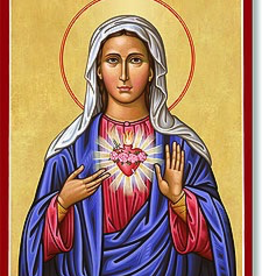 """Monastery Icons 4"""" x 6"""" Immaculate Heart Icon"""