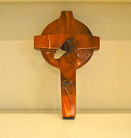 "Merry Crosses 10"" Merry Hand Crafted Aromatic Cedar Celtic Wall Cross (Unique)"